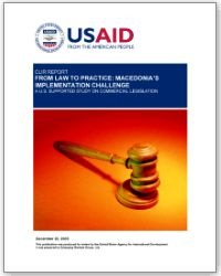 USAID Commercial Law and Institutional Review 2005 Macedonia
