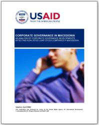 USAID - Corporate Governance in Macedonia. An Analysis of Non-Listed Joint Stock Companies
